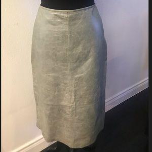 Banana Republic Leather skirt.
